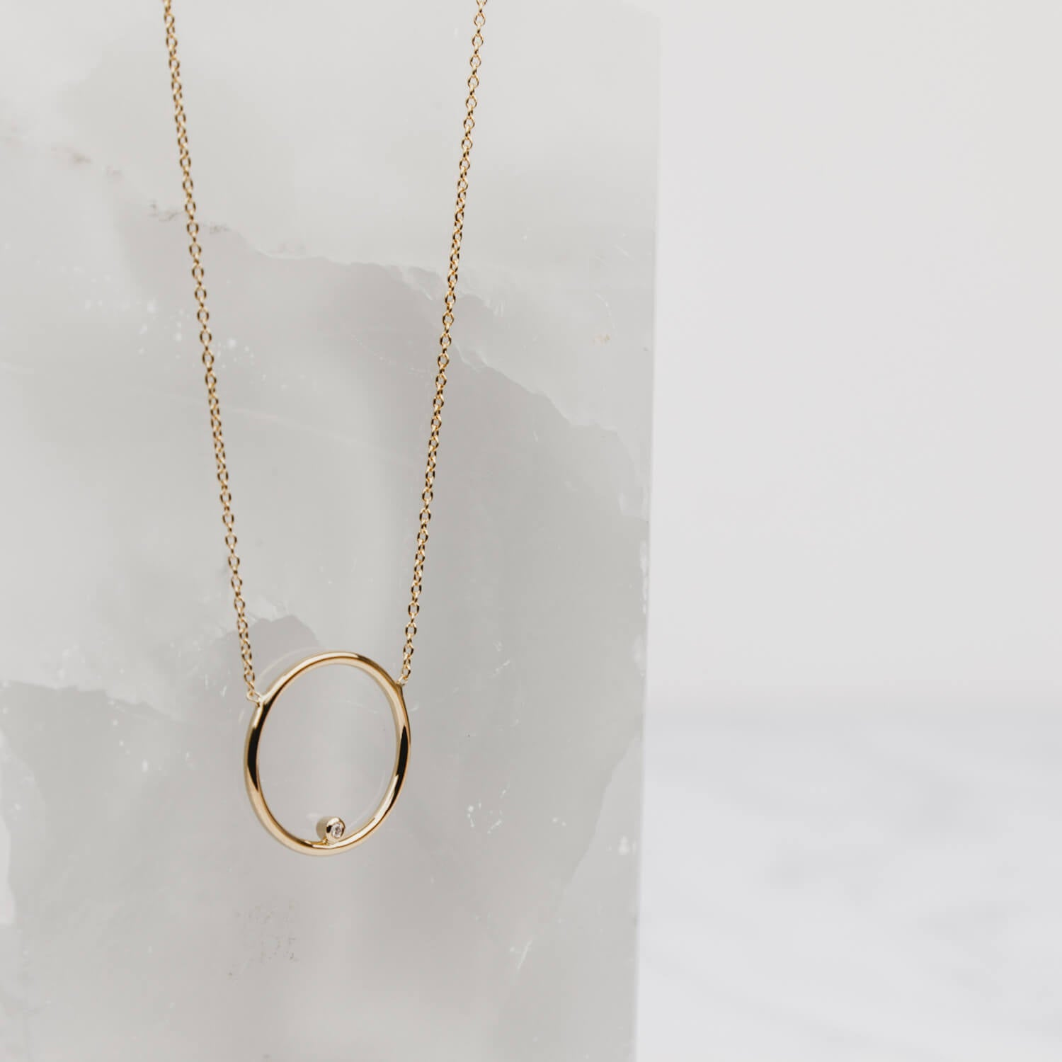 Comet Diamond Necklace Rose Gold