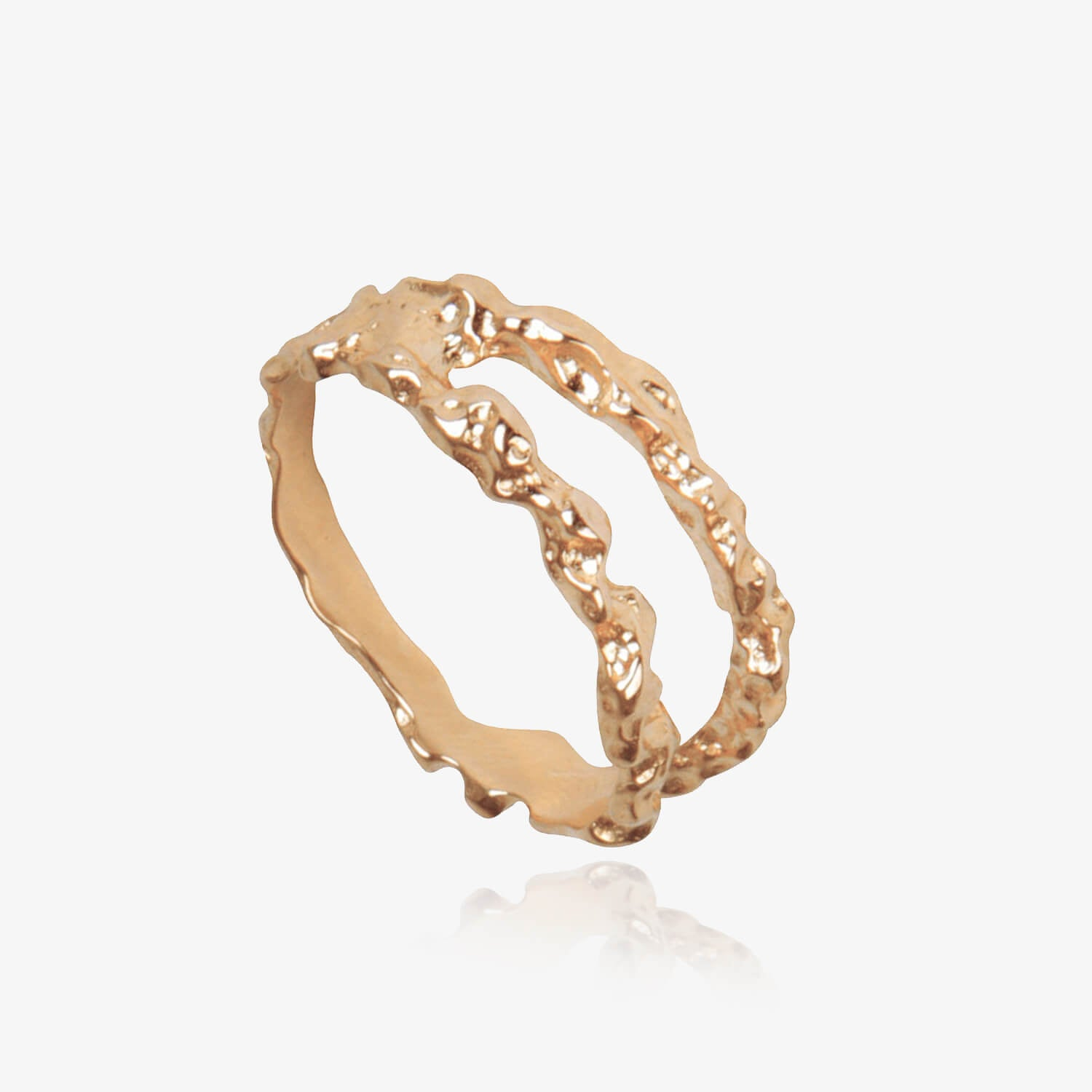 Double Meteor Ring Rose Gold