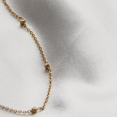 Halo Diamond Necklace Rose Gold