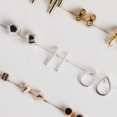 Thin Wire Studs Rose Gold