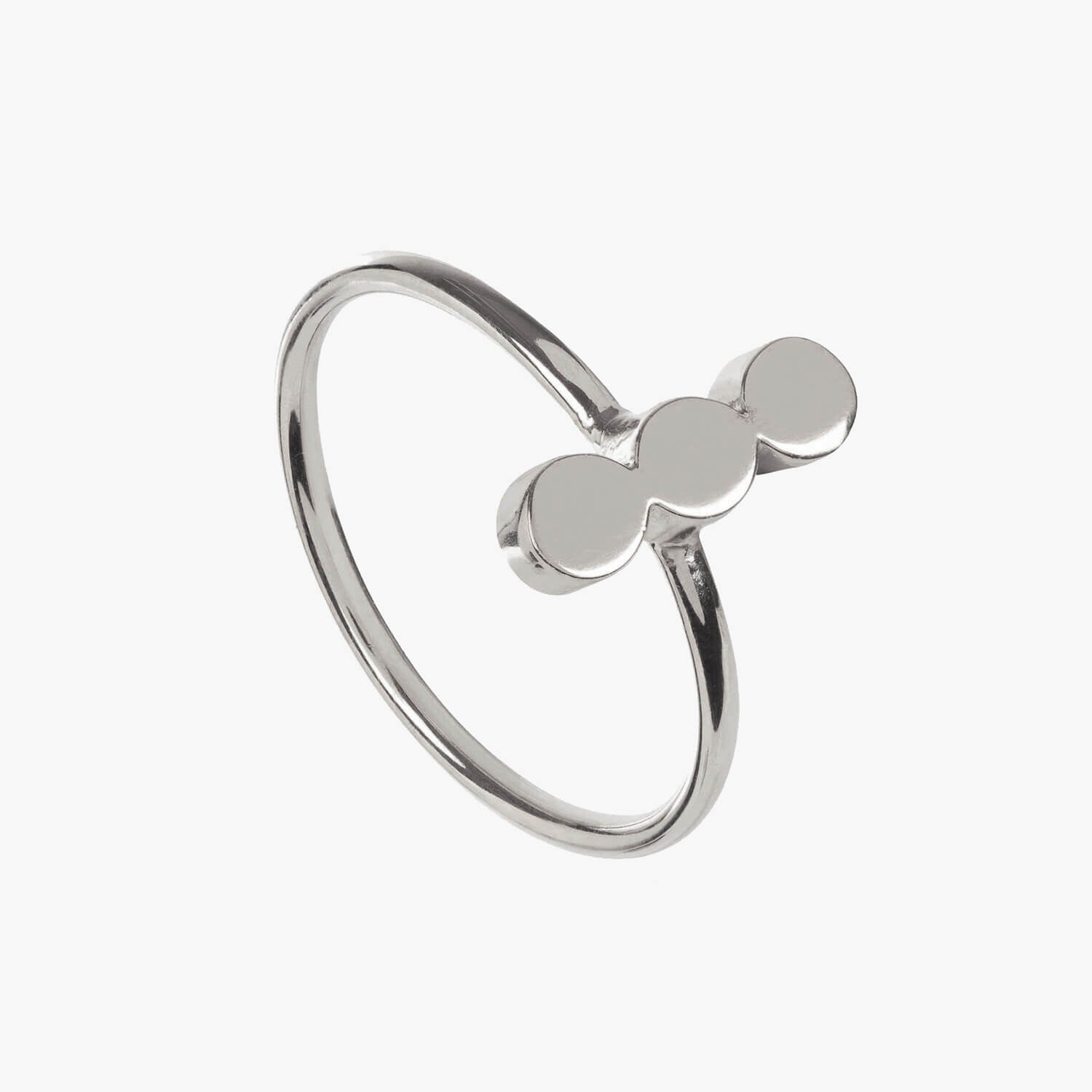 Dot Ring Triple Silver