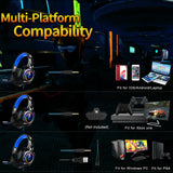 RGB Gaming Headset Ergonomic Noise Cancelling Mic Headphone For PS4, Xbox One, PC