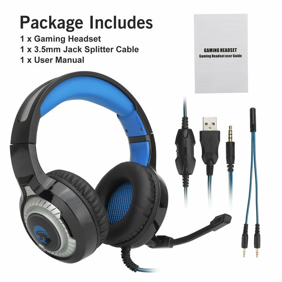 RGB Gaming Headset Ergonomic Noise Cancelling Mic Headphone For PS4, Xbox One, PC - E Store