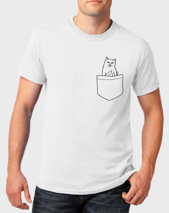 Idees Vol Vrees Zap Cat Pocket Men's T-shirt - komedie