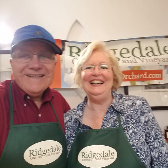 Mike & Karen Horak, owners of Ridgedcale Orchard & Vineyard.