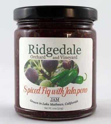 Black Mission Fig Jam with Jalapeno