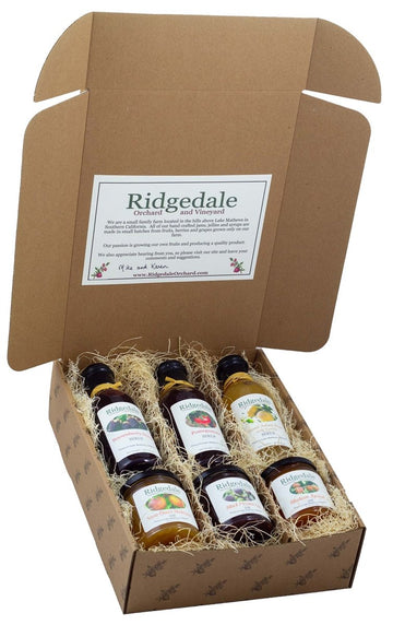 Jam, Jelly and Syrup Custom Assortment Box - Ridgedale Orchard & Vineyard