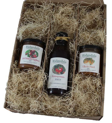 Three Pack Jam and Syrup Custom Assortment Box - Ridgedale Orchard & Vineyard