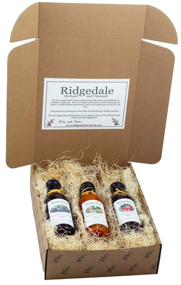 Three Fruit Syrup Custom Assortment Box - Ridgedale Orchard & Vineyard