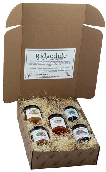 Five Jam & Jelly Custom Assortment Box - Ridgedale Orchard & Vineyard