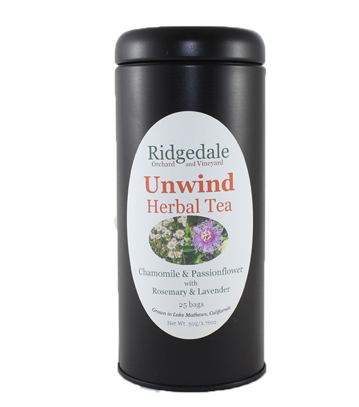 Unwind Herbal Tea in Tin