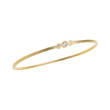 Three Stone GeoDeco Gold Bangle
