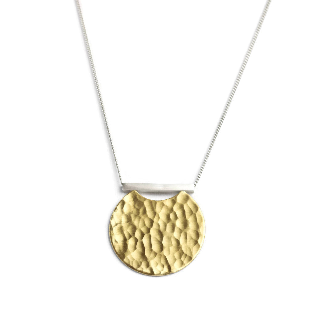 Super Moon Necklace in Gold and Silver