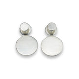 dot front-back brushed sterling silver earrings