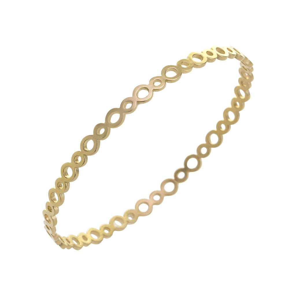 Gold GeoDeco Bangle with Circles