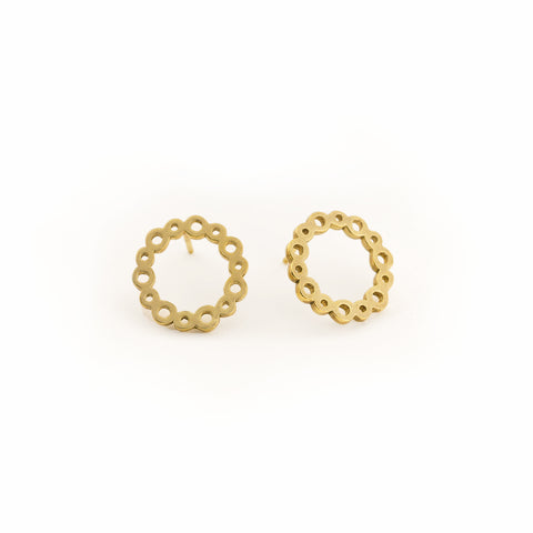 Cloud Circle Earring in Gold Vermeil