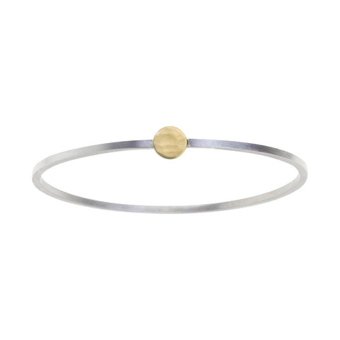 Single Gold Dot GeoDeco Bangle