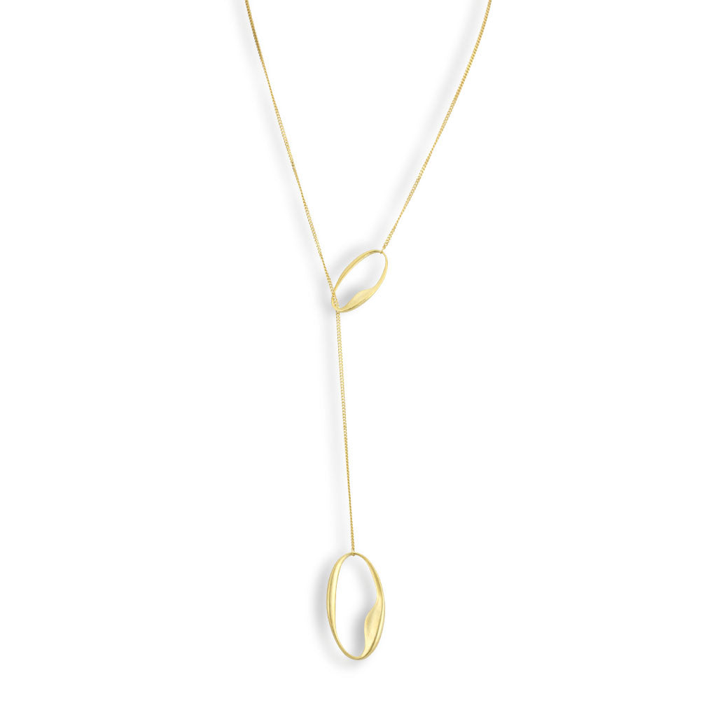 Oval Lariat Necklace