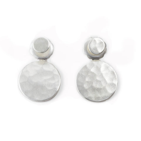 dot front-back sterling silver earrings