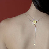 Sunset Necklace in Sterling Silver and Gold