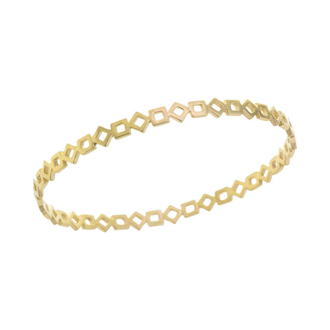 Gold GeoDeco Bangle with Squares