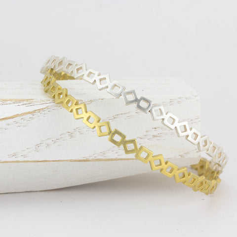 Set of GeoDeco Bangles with Squares