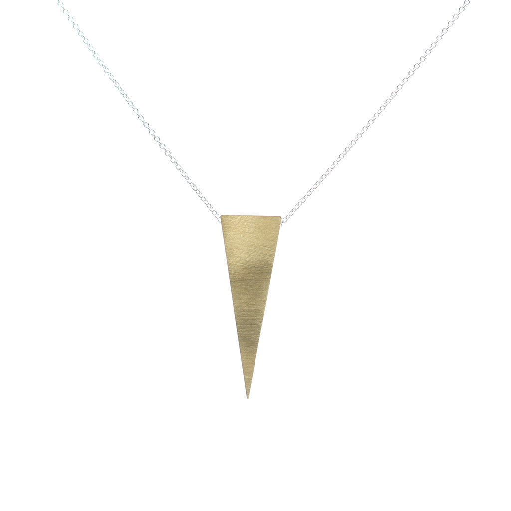 gold and silver triangle choker