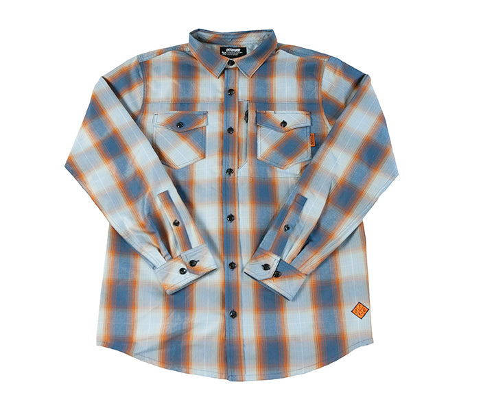 Ambush Technical Flannel - Pale Blue - PREORDER