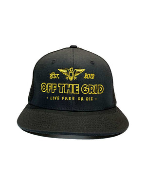 Escape-the-Grid-Snapback-Flatbill-Trucker-Hat-Black-OFF-THE-GRID
