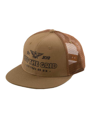 Escape-the-Grid-Trucker-Hat-COYOTE-OFF-THE-GRID