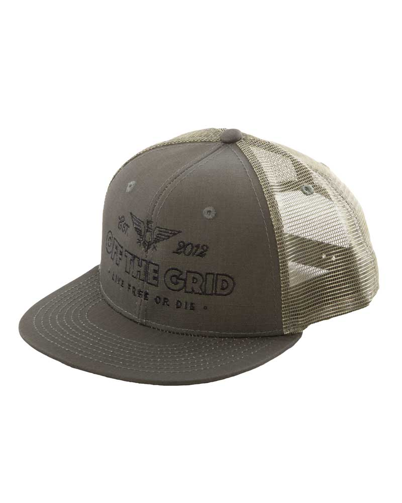 Escape-the-Grid-Trucker-Hat-Olive-OFF-THE-GRID