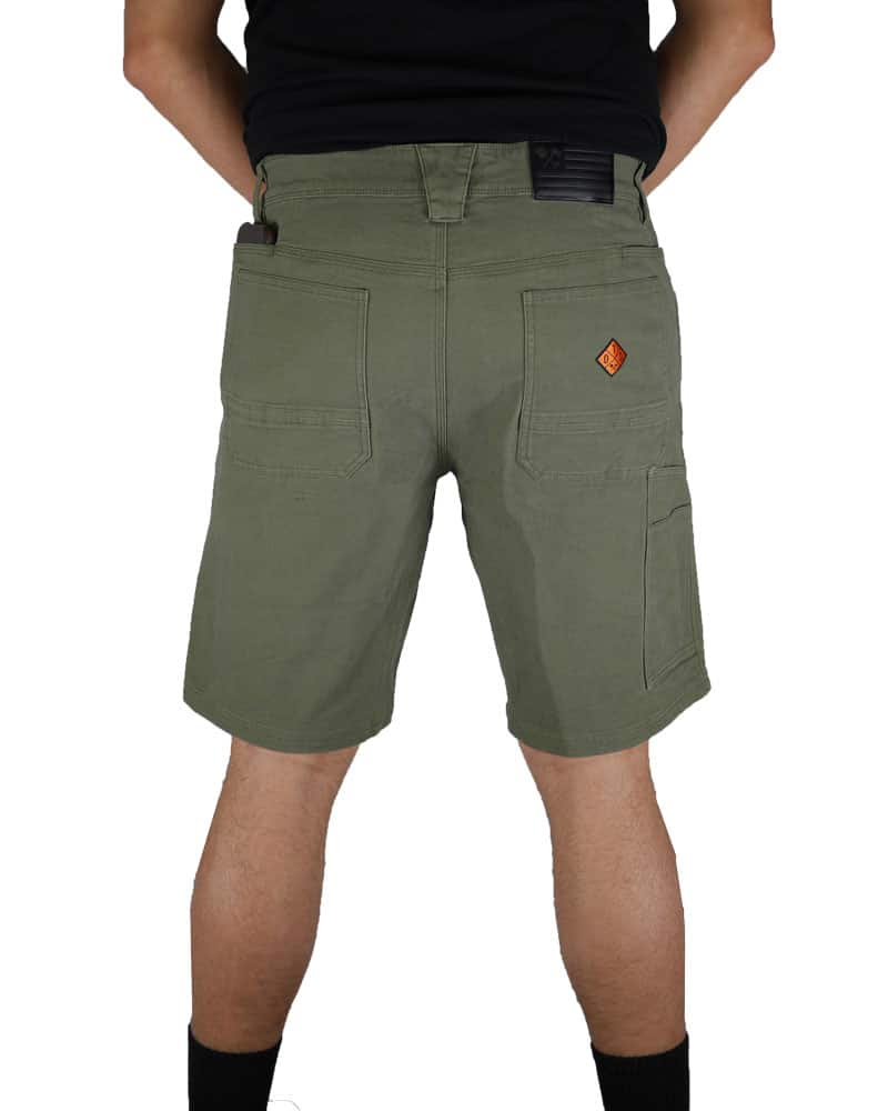 Havok-Shorts-10-Inch-Dark-Olive-Model-Back-OFF-THE-GRID