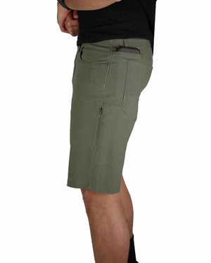 Havok-Shorts-10-Inch-Dark-Olive-Model-Side1-OFF-THE-GRID
