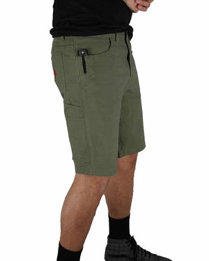 Havok-Shorts-10-Inch-Dark-Olive-Model-Side2-OFF-THE-GRID