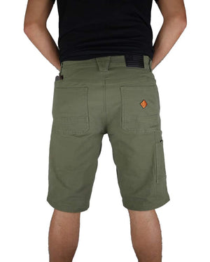 Havok-Shorts-12-Inch-Dark-Olive-Model-Back-OFF-THE-GRID