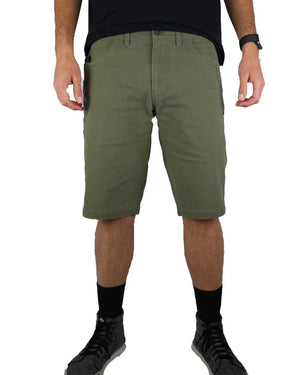 Havok-Shorts-12-Inch-Dark-Olive-Model-Front-OFF-THE-GRID