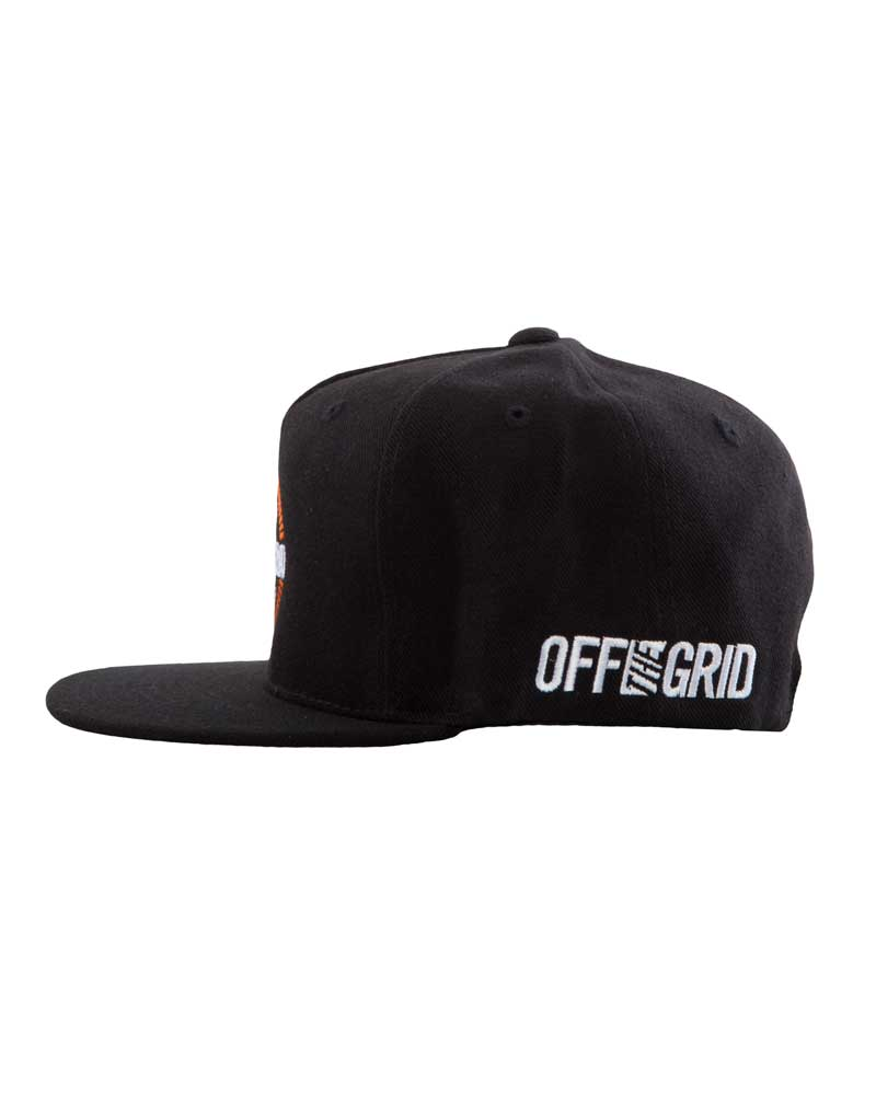 Round-And-Round-Snapback-Hat-Black-Side-OFF-THE-GRID