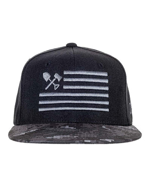 Shovel N Bars Camo Bill Snapback Front Urban Off The Grid
