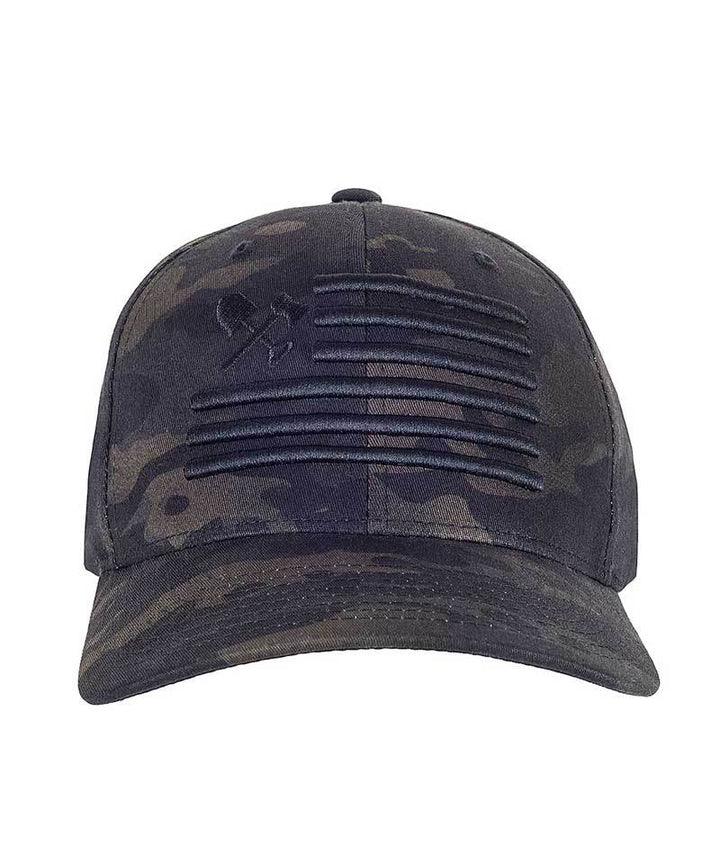 Shovel N Bars Flexfit Multicam Black Hat OFF THE GRID FRONT