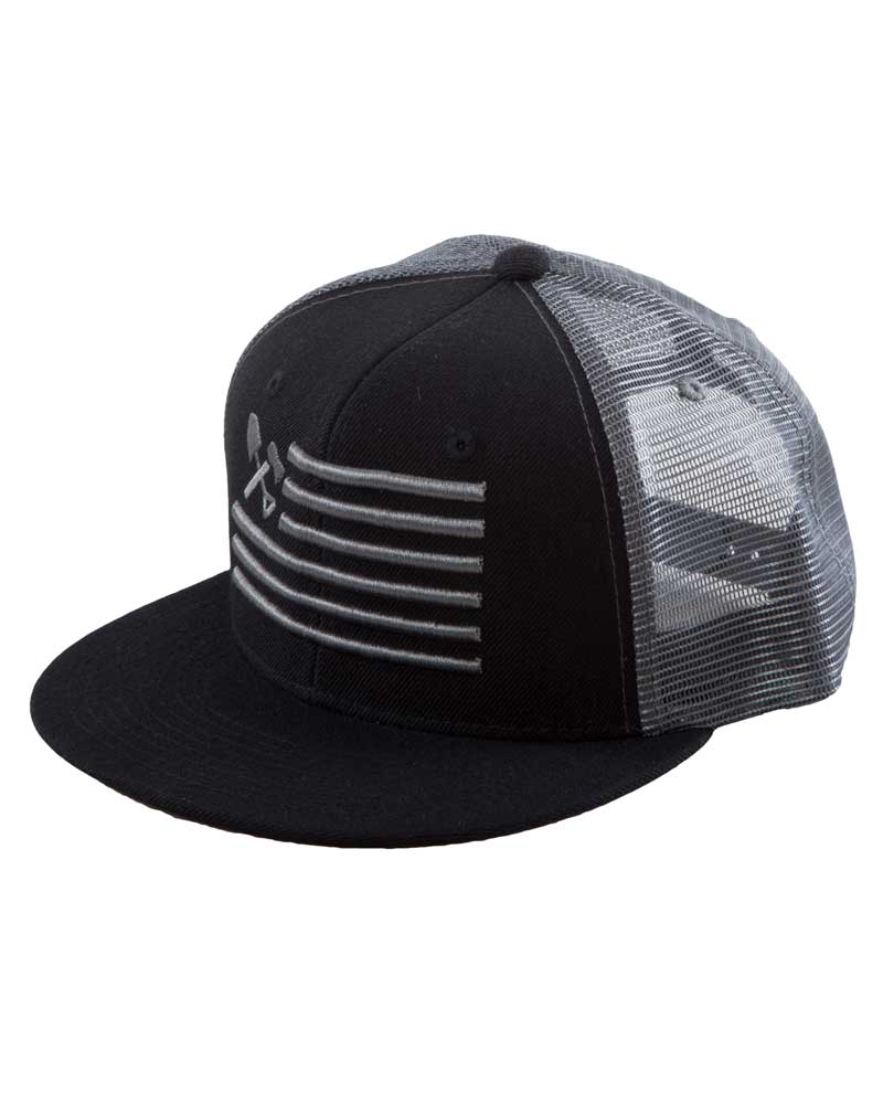 Shovel-N-Bars-Trucker-Hat-Black Front-OFF-THE-GRID
