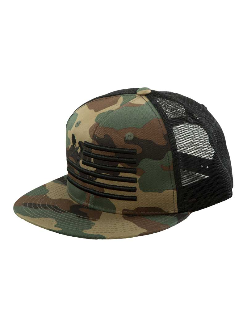 Shovel N Bars Trucker Hat Camo OFF THE GRID