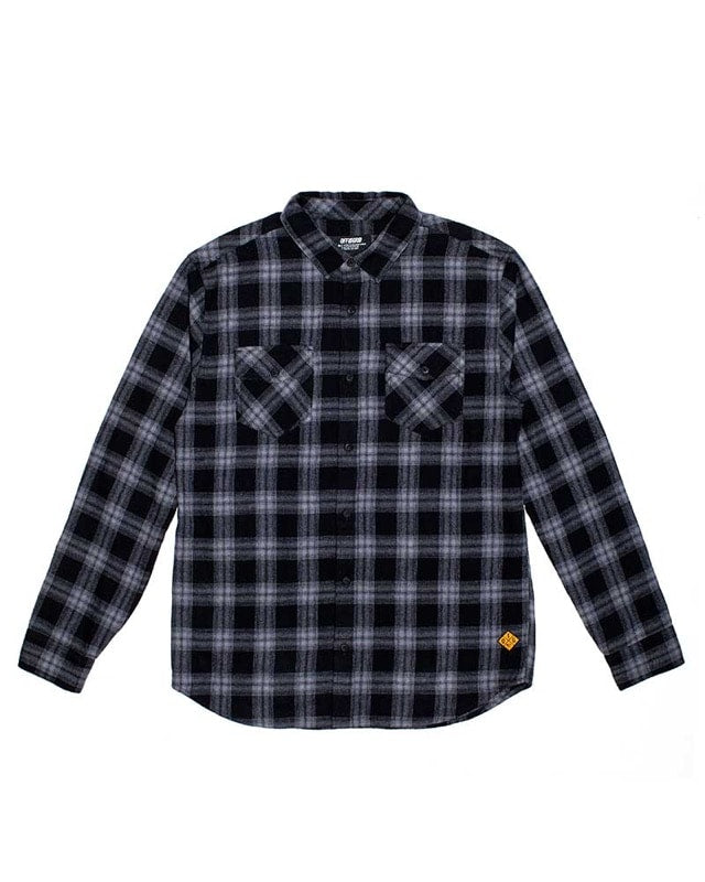 Stamped Flannel Black Laydown Off The Grid