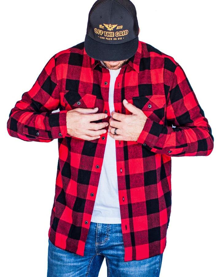 Stamped-Flannel-On-Body-Red-Off-The-Grid