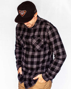Stampede-Flannel-Black-Front-OFF-THE-GRID