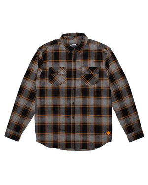 Stampede-Flannel-Grey-laydown-OFF-THE-GRID