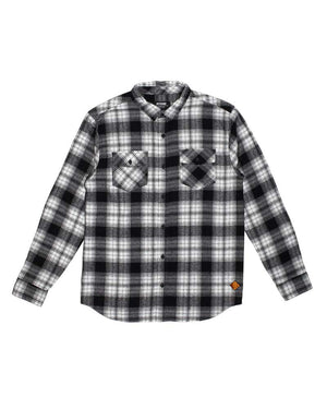 Stampede-Flannel-White-laydown-OFF-THE-GRID