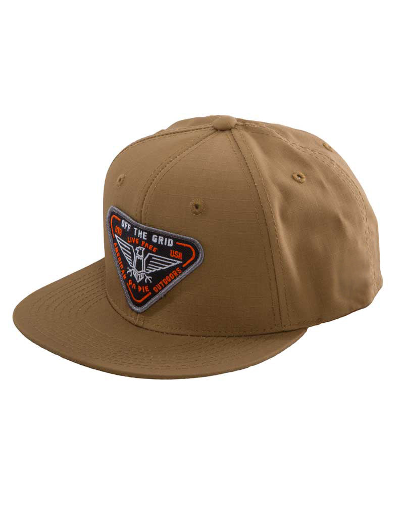 Where-Eagles-Dare-Snapback-Hat-Front-COYOTE-OFF-THE-GRID