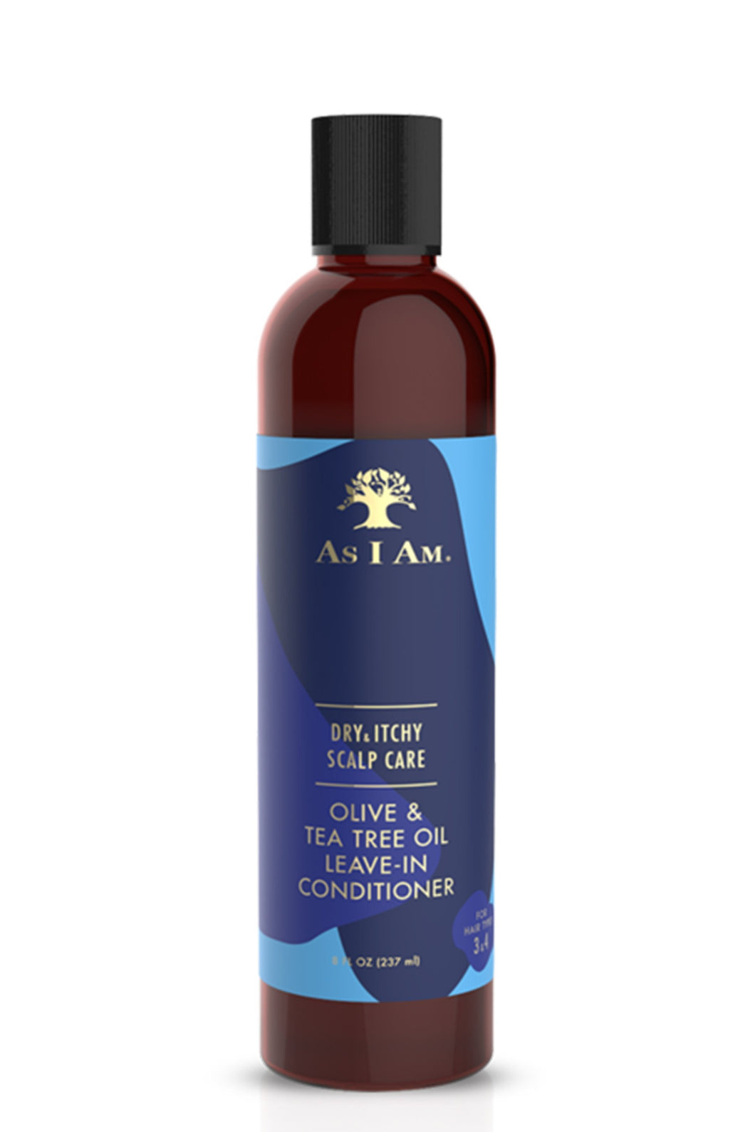 AS I AM Dry and Itchy Scalp Care Olive and Tea Tree Oil Leave in Conditioner (237ml)
