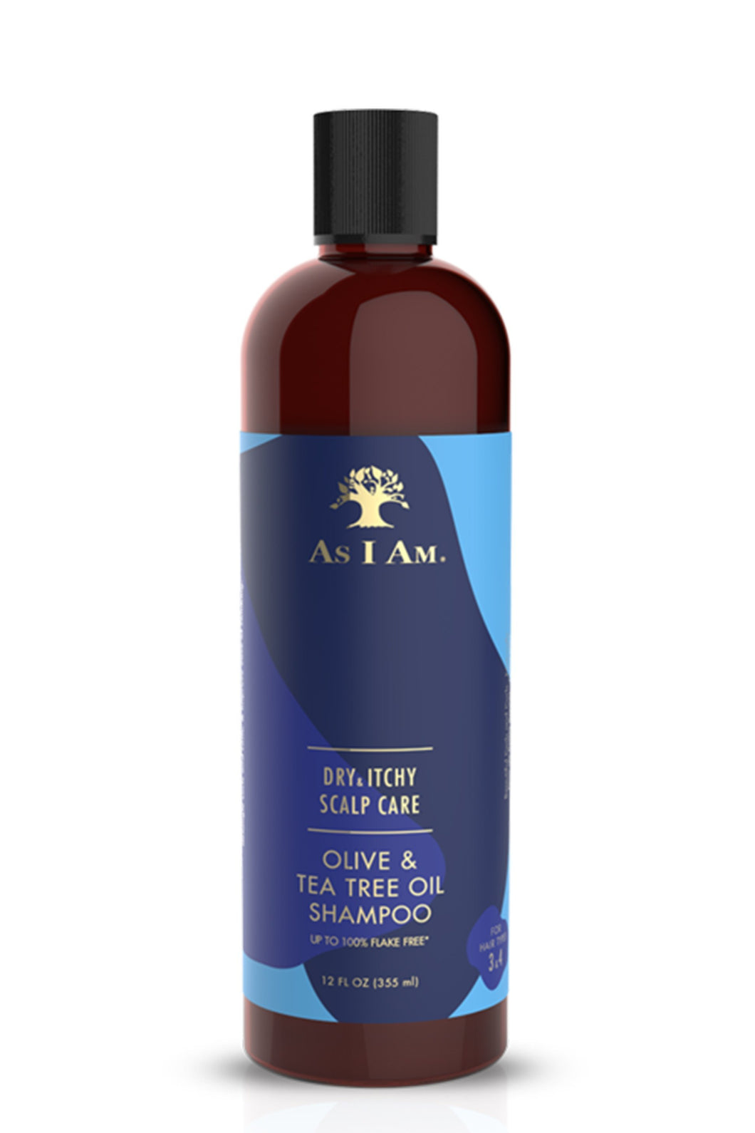 AS I AM Dry and Itchy Scalp Care Olive and Tea Tree Oil Shampoo (355ml)