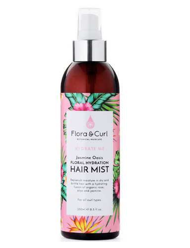 FLORA & CURL Jasmine Oasis Hydrating Hair Mist Product Bottle